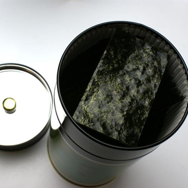 江戸前≪特上≫焼海苔2番のり【大須賀海苔店謹製】缶入り