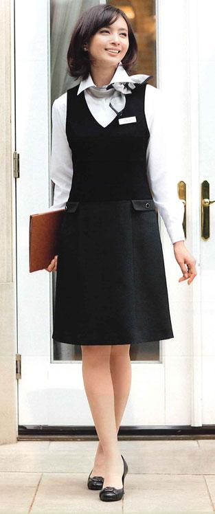 【ジョア en joie ジャンパースカート 61450 スカート 事務服 事務 ビジネス 通勤 仕事 】