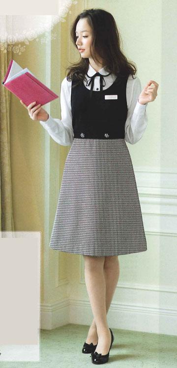 【ジョア en joie ジャンパースカート 61460 スカート 事務服 事務 ビジネス 通勤 仕事 】