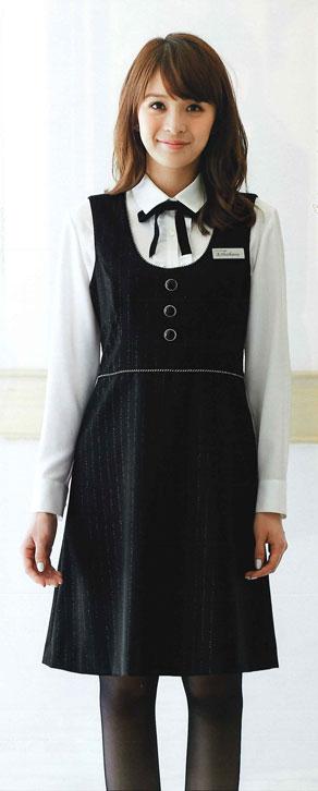 【ジョア en joie ジャンパースカート 61700 スカート 事務服 事務 ビジネス 通勤 仕事 】