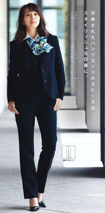 【ジョア en joie パンツ 71762 事務服 事務 ビジネス 通勤 仕事 】