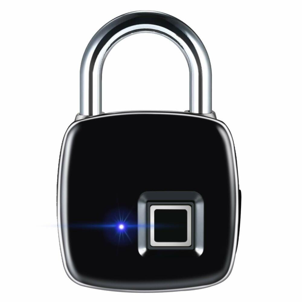 指紋ロック タッチロック スマートロック スマート南京錠 公式 指紋認証 複数指紋登録可能 豪華な ジム USB充電 盗難防止 防犯グッズ オフィスに適用 自転車
