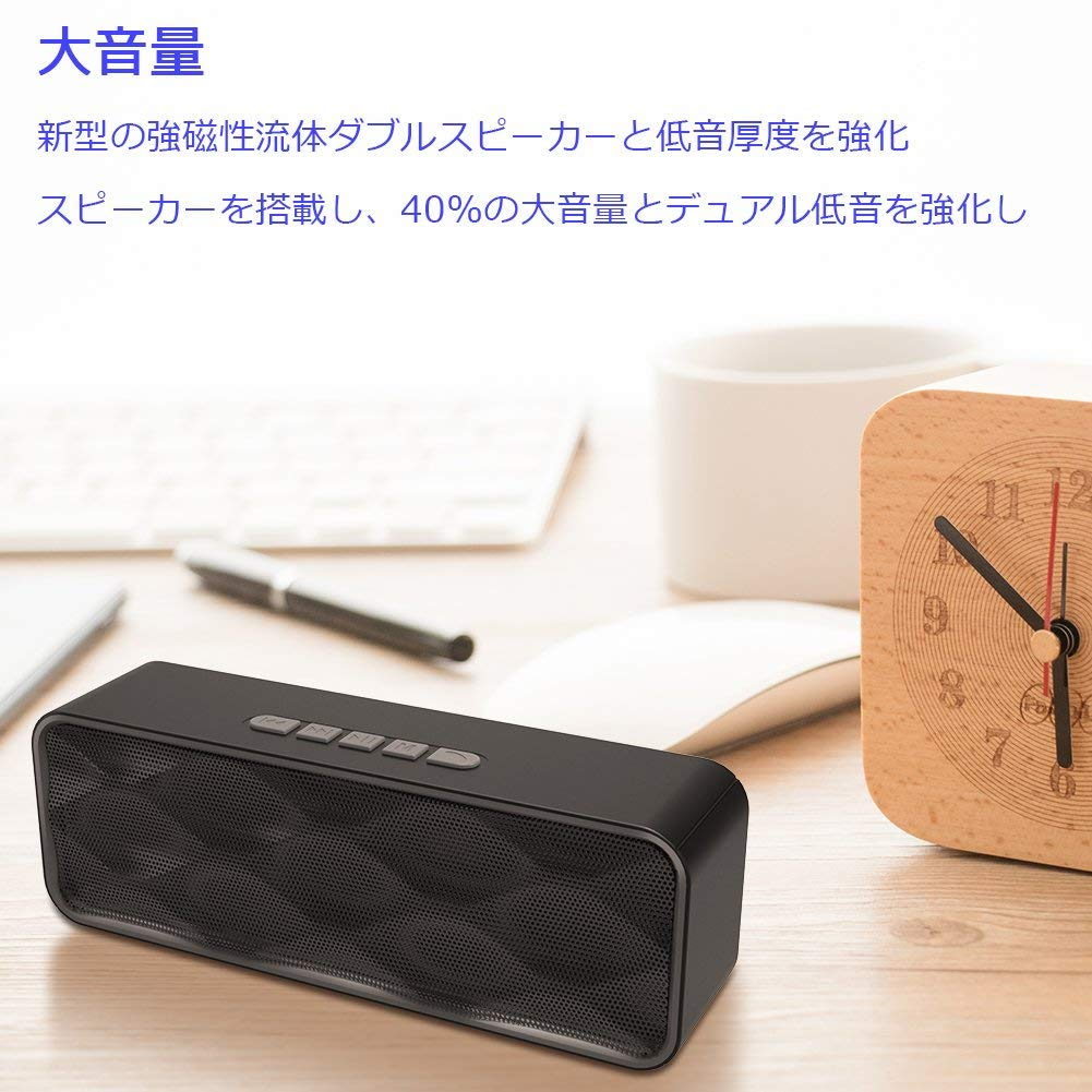 It supports a Bluetooth speaker portable bluetooth wireless stereo speaker  high-quality sound megavolume low tone hands-free call