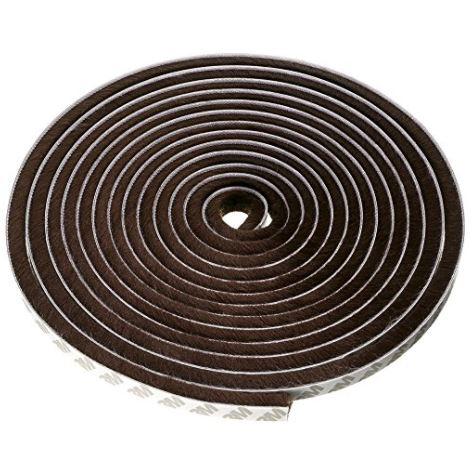 隙間テープ 窓 ドア 隙間風防止 断熱 防風 長さ5m 防音 防水 永遠の定番モデル 毛足9mm 毛足 ブランド買うならブランドオフ 幅9mm