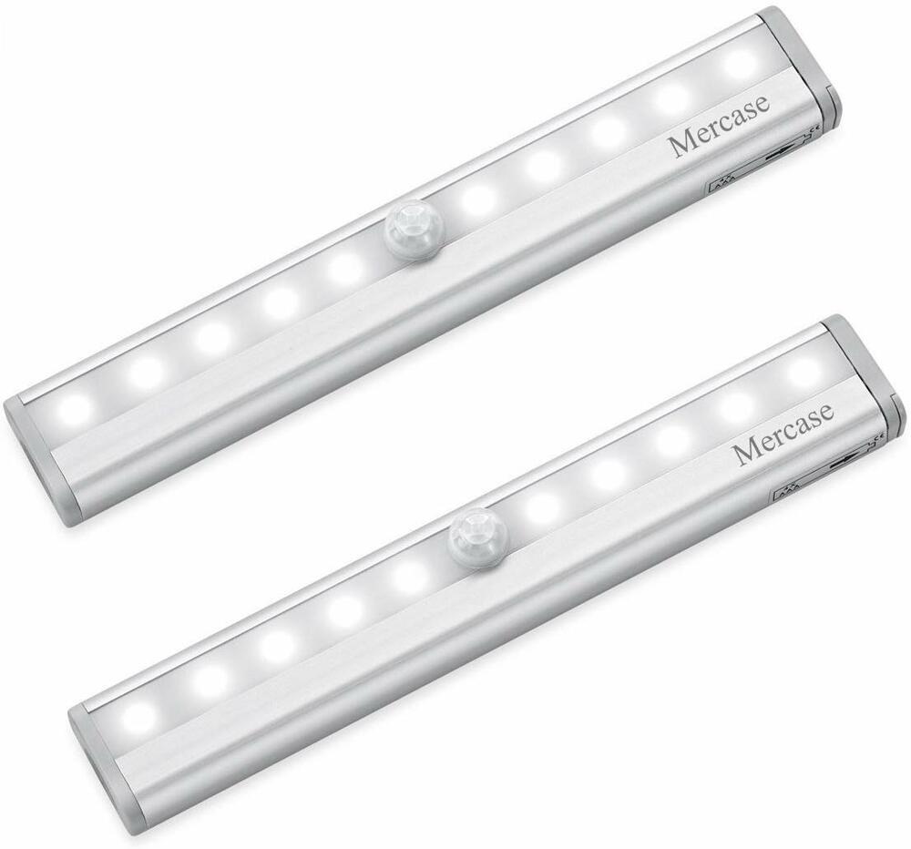 永遠の定番 人感 センサーライト LED 電池式 昼白色 貼り付け型 2個入 10ランプ 2020A/W新作送料無料