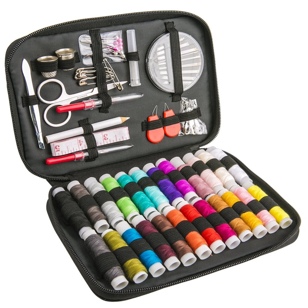 裁縫セット ソーイングセット 通常便なら送料無料 24色縫い糸あり 携帯式 保障