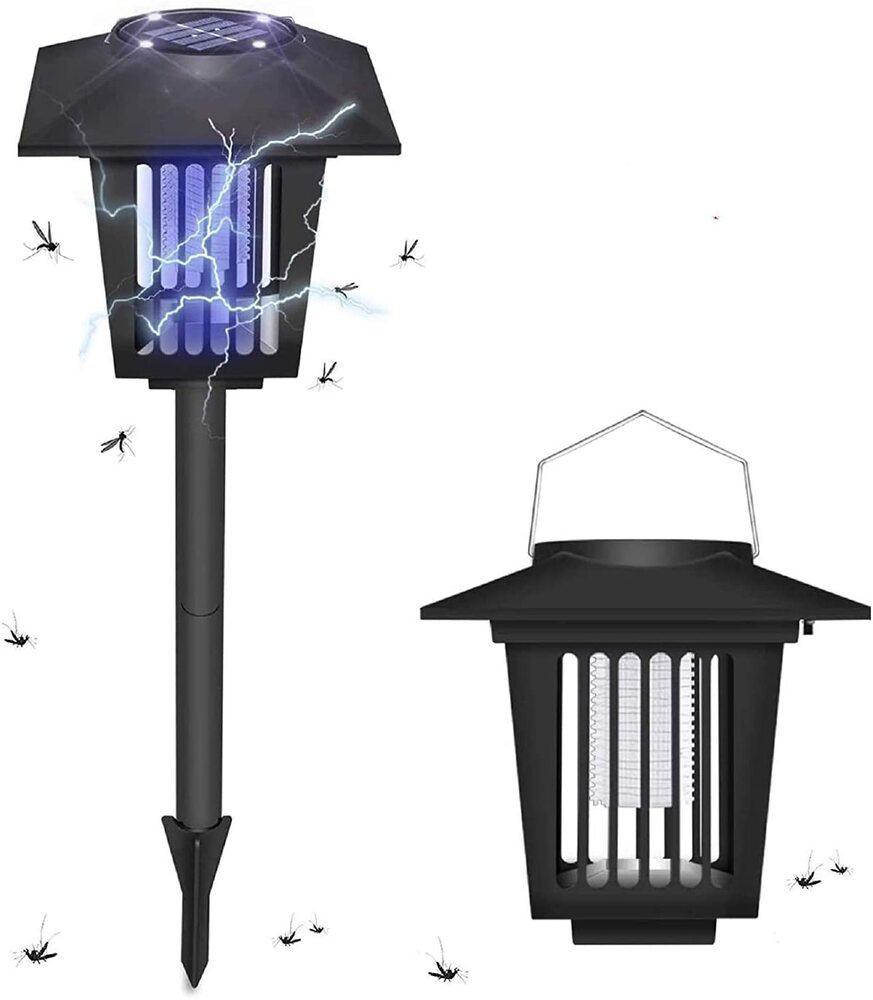 電撃殺虫器 蚊取り器 ソーラー充電方式 物理強力殺虫 誘蛾灯 UV光源吸引式殺虫灯 日本正規代理店品 永遠の定番 虫退治 捕虫器 自動点灯