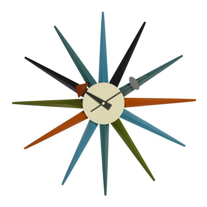 【送料込】E-comfortネルソン サンバースト クロック(時計)