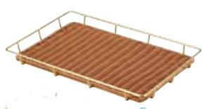 朝食やランチの食卓を爽やかに飾る♪ 金色スチールパンラック 60型ブラウン