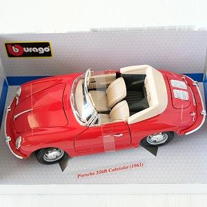 【中古】【ミニカー】1/18 BURAGO PORSCHE 356B Cabriolet 1961