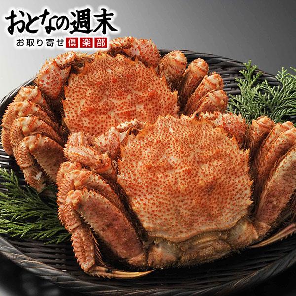 送料無料 えりも活蒸し毛蟹 2尾(約1kg)/カニ かに 毛蟹