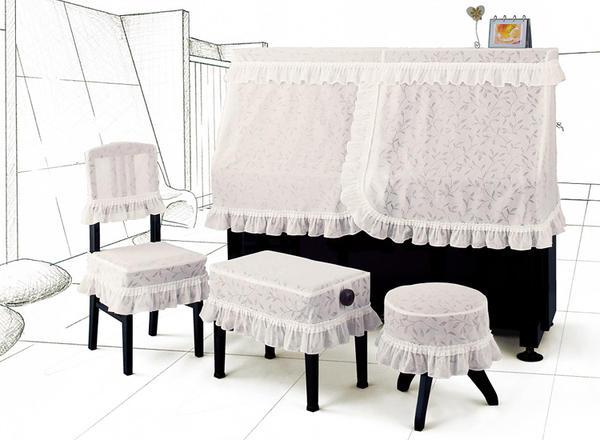送料無料でお届けします ≪椅子カバー≫ 穏やかに揺れる 草原のイメージ少し光沢の質感に浮き上がるリーフ柄 シンプルな共フリルスタイル 安心の実績 高価 買取 強化中 ピアノ椅子カバー 背もたれ椅子 アルプス BL-CK ジャガードレースタイプ