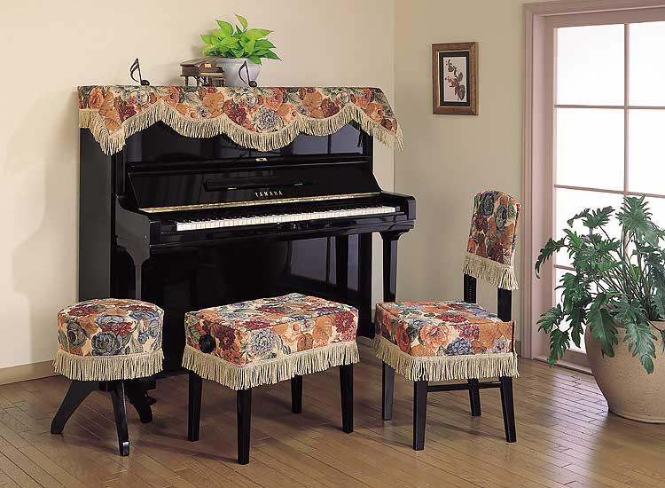 ♪【送料無料!】インポートタイプ ピアノ椅子カバー(画像中央) G-60-CS 60以上