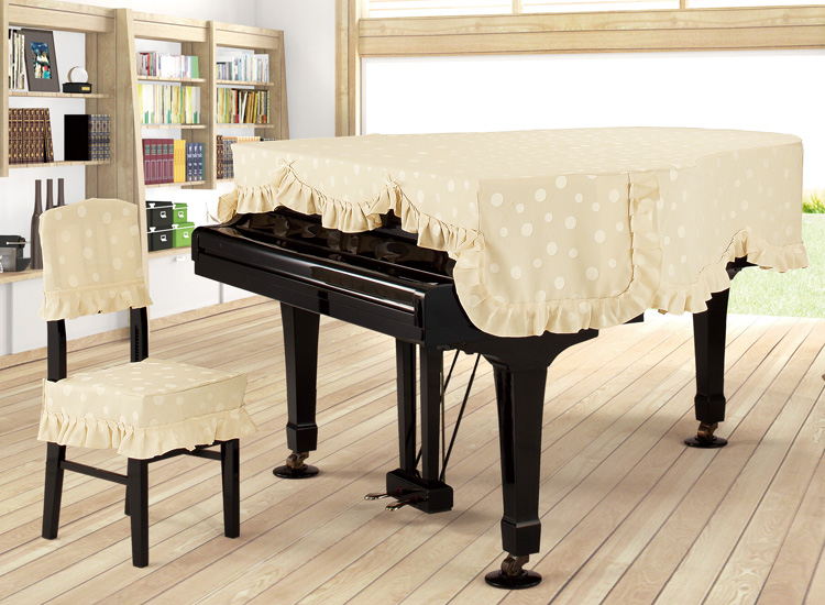 新着商品★グランドピアノカバー ジャガード G-MC クリーム 200~220未満