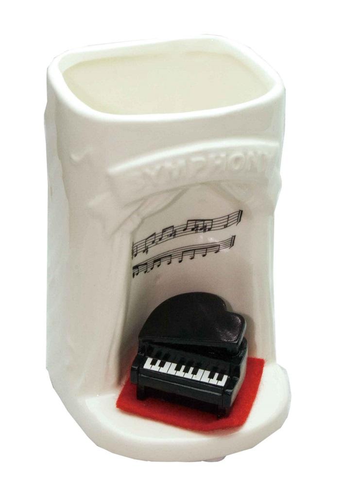 在庫数が入っていない場合はお取り寄せ ランキング総合1位 大量ご注文承ります 音楽雑貨 神無月 ピアノペンスタンド SR-523 ホワイト 年中無休 TK181 発表会記念品
