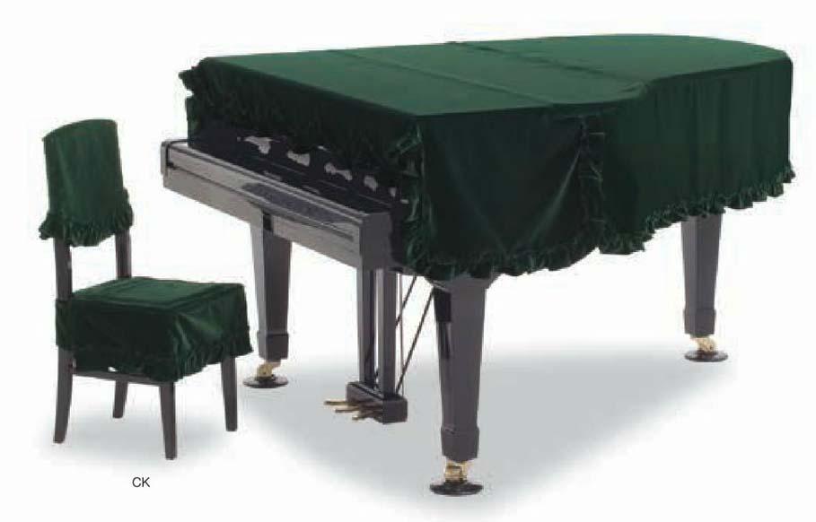 【送料無料】グランドピアノカバー GP-408XG グリーン ベルベット C5X用