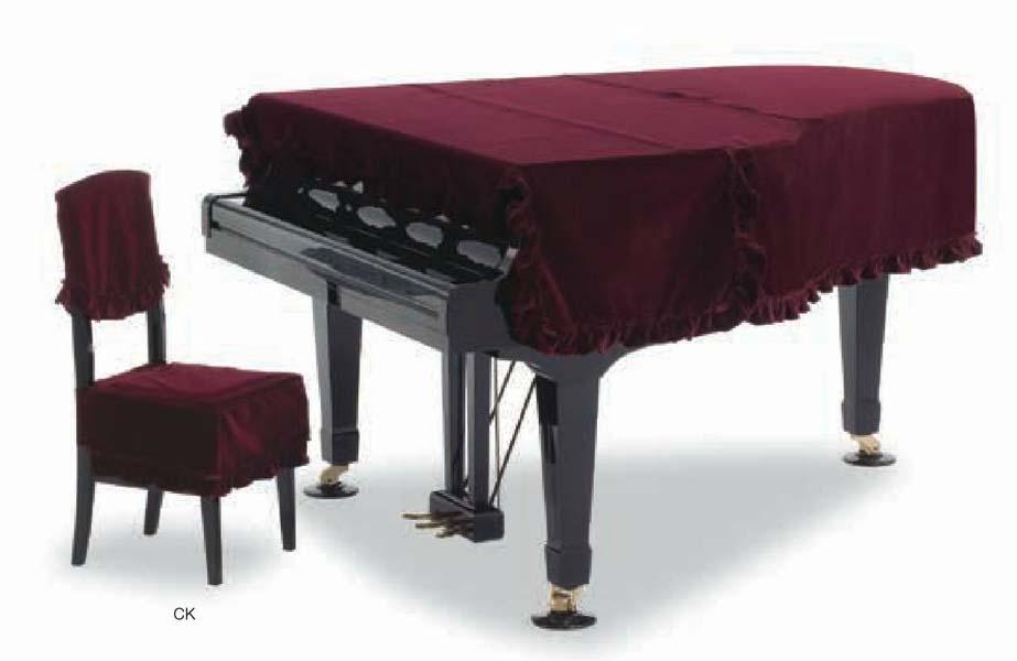 【送料無料】グランドピアノカバー GP-408XE エンジ ベルベット C5X用
