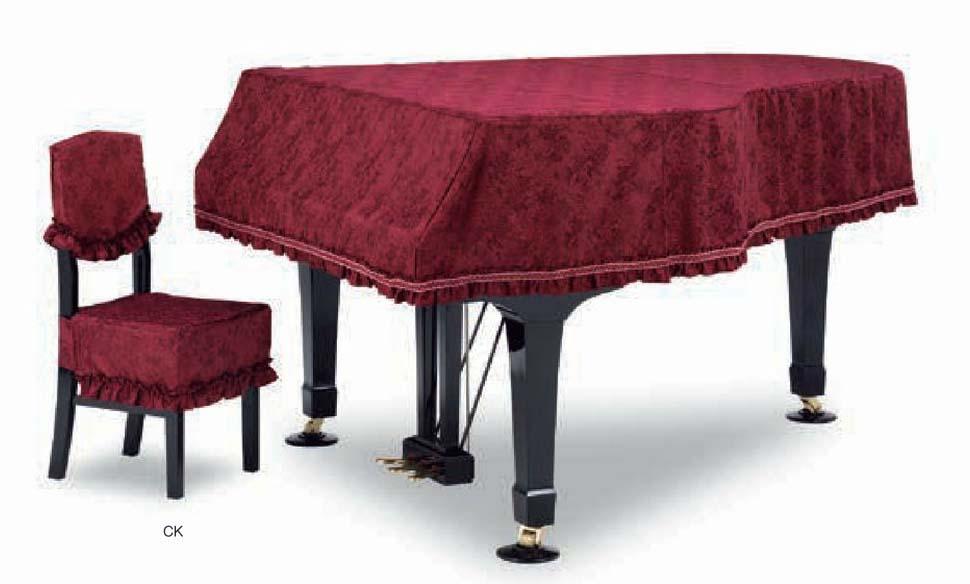 【送料無料】グランドピアノカバー GP-585WR ワインレッド C5X用