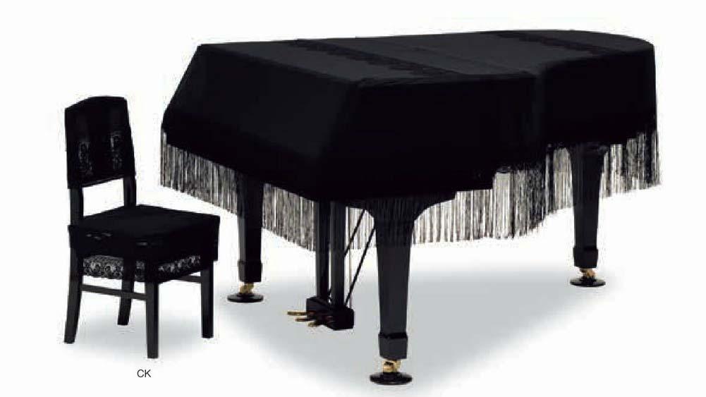 【送料無料】グランドピアノカバー GP-719BK ブラック C3X用