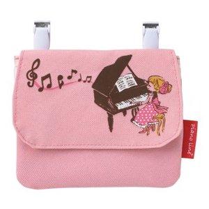 ハンカチやポケットティッシュ入れにして 女の子に人気です 0170201 スーパーSALE セール期間限定 Pianolineポケットポーチ 黒猫と女の子 発表会記念品 ポーチ ギフト 爆買い送料無料 ピアノライン