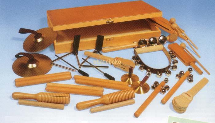 パーカションセット 木箱入り ゴールドンお取り寄せ品です!