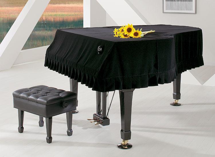 ●グランドピアノカバー キュプラ・ベルベット ブラック オーダー品G-WB BK