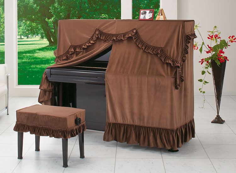 ●ビロードタイプ A-LB BR ブラウン ピアノオールカバー