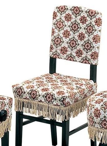 雪小紋(ベージュ)高低椅子カバー(背もたれ椅子)受注生産品 甲南