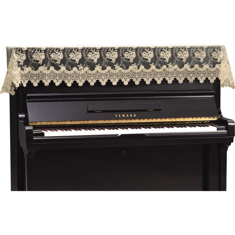 ◎アップライトピアノ用トップカバー LPT-272RB バラ柄刺繍ラッセルレース&ギュピールレース ベージュ ピアノカバー 吉澤