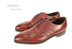 グレンソン/Grenson 靴 メンズ ノーザンプトンGR-MACCLESFIELD 外羽根ストレートチップ イギリス/英国紳士靴