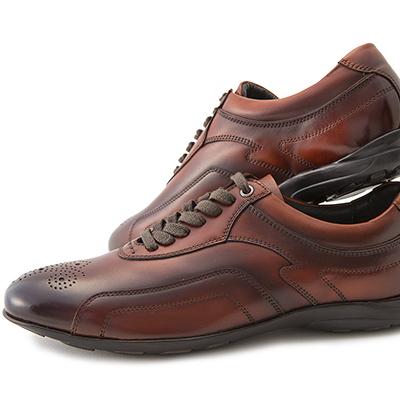 [レザースニーカー×大塚製靴]HS-6015 オーツカレザースニーカー エディション2[140年の歴史を持つ老舗ブランドの新提案 by 大塚製靴/OTSUKA/オーツカバーガンディ/ブラック/ブラウン/ダークブラウン[メンズ/カジュアル/ビジネス]