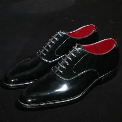 【大塚製靴】M5-228 エナメル内羽根プレーントウ[M5-228 Plain Oxford with Patent Leather]【7月中旬頃 出荷予定分】