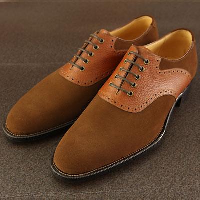 【皇室御用達 大塚製靴】M5-237CombinationSaddleOxfordコンビサドルオックスフォードブラック・ブラウン