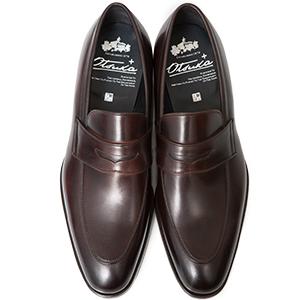 皇室御用達 大塚製靴/OTSUKA Otsuka+(オーツカ プラス)OP-1005 コインローファー グッドイヤーウェルト式製法 ブラック・ダークブラウン紳士靴・革靴(メンズ/フォーマル/ビジネス/ドレスシューズ)