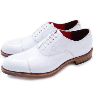 皇室御用達 大塚製靴/OTSUKA Yokohama made(オーツカ ヨコハマ)OG-1104 エナメル内羽根ストレートチップ ホワイトグッドイヤーウェルト式製法(ハンドソーン式製法・九部仕立て)
