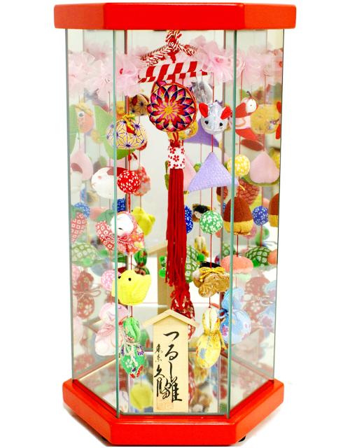【雛人形 送料無料】久月作 さげもん「吊るし雛」 ケース飾り 《TAR23-3》