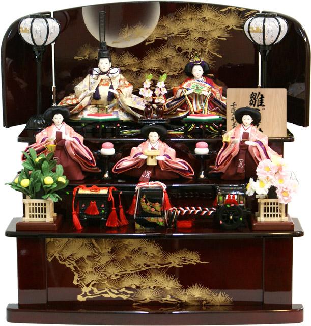 【送料無料 雛人形】千匠作 「雛ごよみ」 三段収納飾り《45A-47》