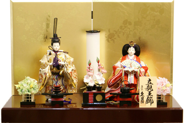【雛人形 送料無料】久月作 「立雛」 親王平飾り《S-30160》