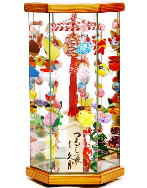 【雛人形 送料無料】久月作 さげもん「吊るし雛」 ケース飾り《TAR22-1》