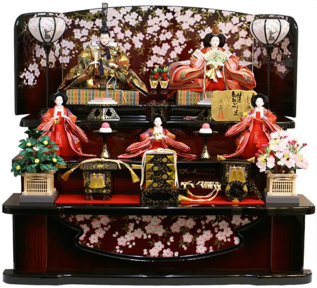 【人気商品 雛人形】千匠作 天使の十二単衣「雛ごよみ」三段飾り 送料無料《37N-2》
