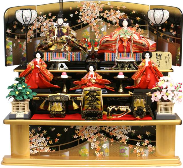【人気商品 雛人形】千匠作 天使の十二単衣「雛ごよみ」三段飾り 送料無料《45A-20》