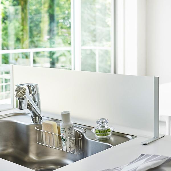 メーカー公式ショップ 山崎実業 全国一律送料無料 シンク水はね防止スタンド プレート ホワイト 3911