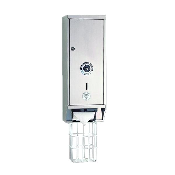 リラインス[RELIANCE] 公共向け ボックス型トイレットペーパーホルダー(4本用)露出型[R5504B]