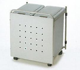 【送料無料 一部地域除く】【AUX/オークス】[J54] パネル付ダストボックスワゴン 2連タイプ 取っ手・キャスター・大容量ペール(2個)付き ダストボックス ゴミ箱 キッチン収納 ※代引不可