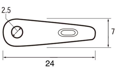 ステンレストンボ (チョボ゙付)SUS304 6301-A 8分 (入数:5000) [※代引不可]