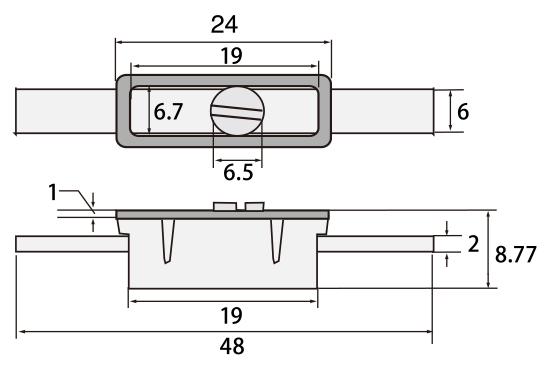コロロボックス型 6318 W48×H6mm 茶 (入数:100) [※代引不可]