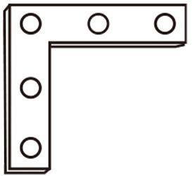 ステンレス角金具 6299-35 H180×W35mm (入数:20) [※代引不可]