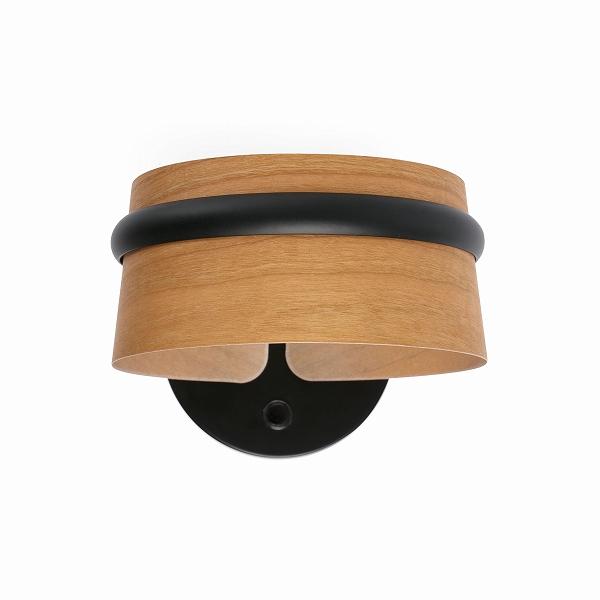 【FARO】LOOP LED Black wall lamp FARO FA29565【代引き不可】