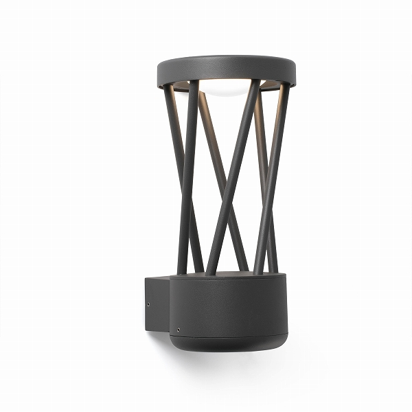 【FARO】TWIST LED Dark grey wall lamp FARO FA71285【代引き不可】