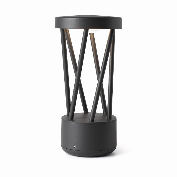 h30cm lamp 【FARO】TWIST grey Dark beacon LED FARO FA71286【代引き不可】